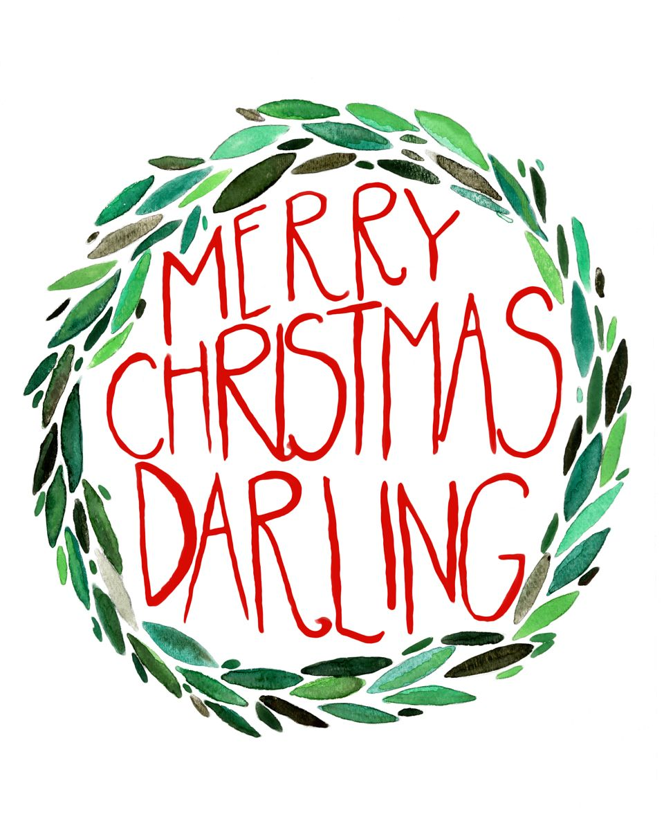 THE PAPER INDIAN | Merry Christmas Darling Print | Online