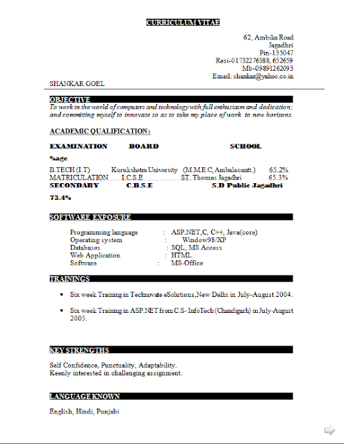 Curriculum Vitae Resume Free Download Sample Template Excellent Cv