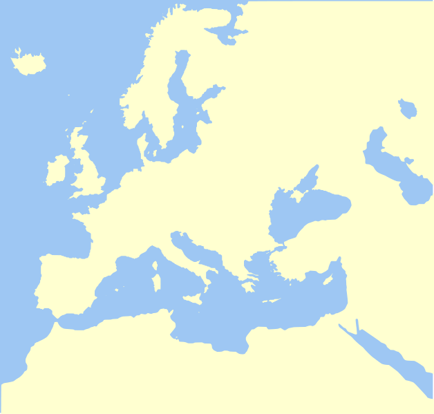 Europe Map No Borders World Map Interactive