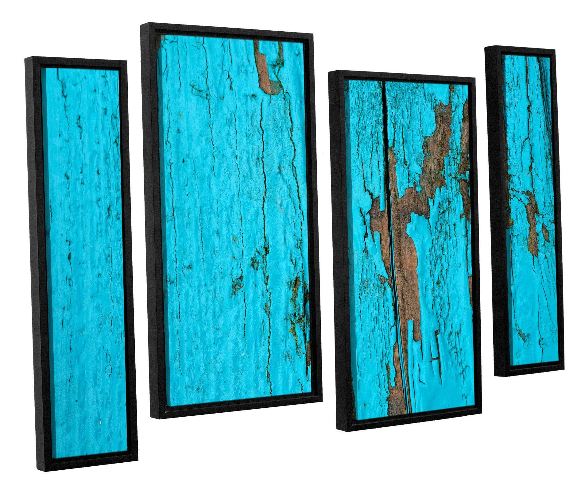 Turquoise paintu by cora niele piece framed original painting set