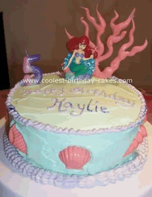 Ariel and Seashells Cake Seashell cake Whipped frosting and Ariel
