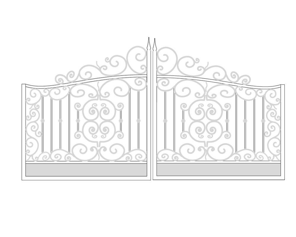 Gate drawing see real photo igr adornos