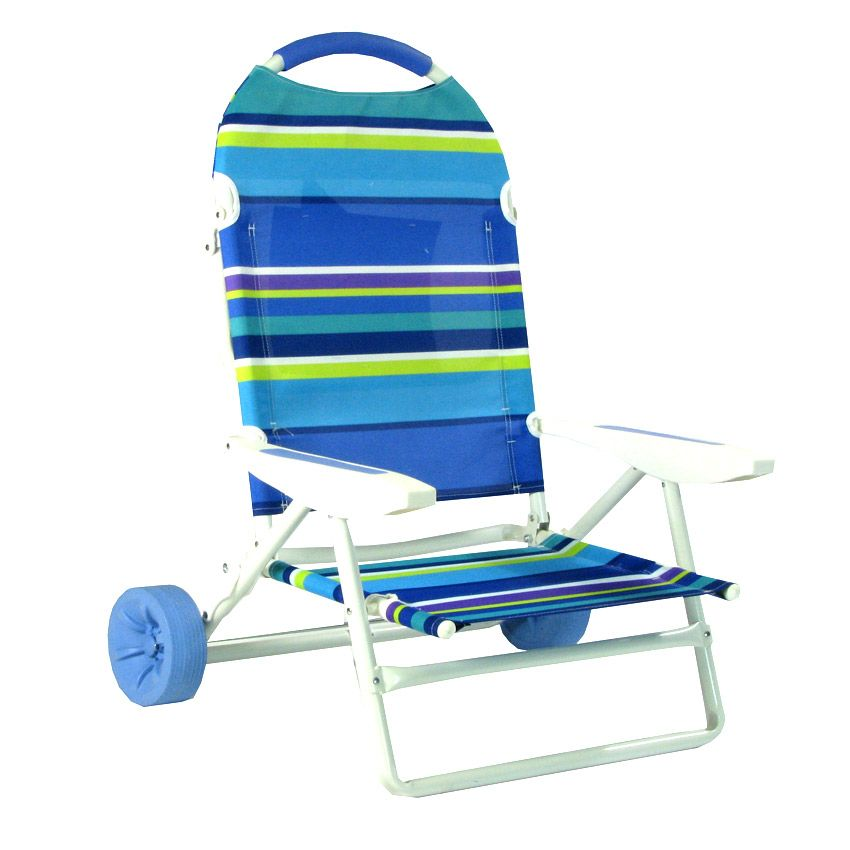Folding Beach Chair On Wheels Cart By Rio Folding Beach Chair Beach Chairs Rubber Flooring Bathroom