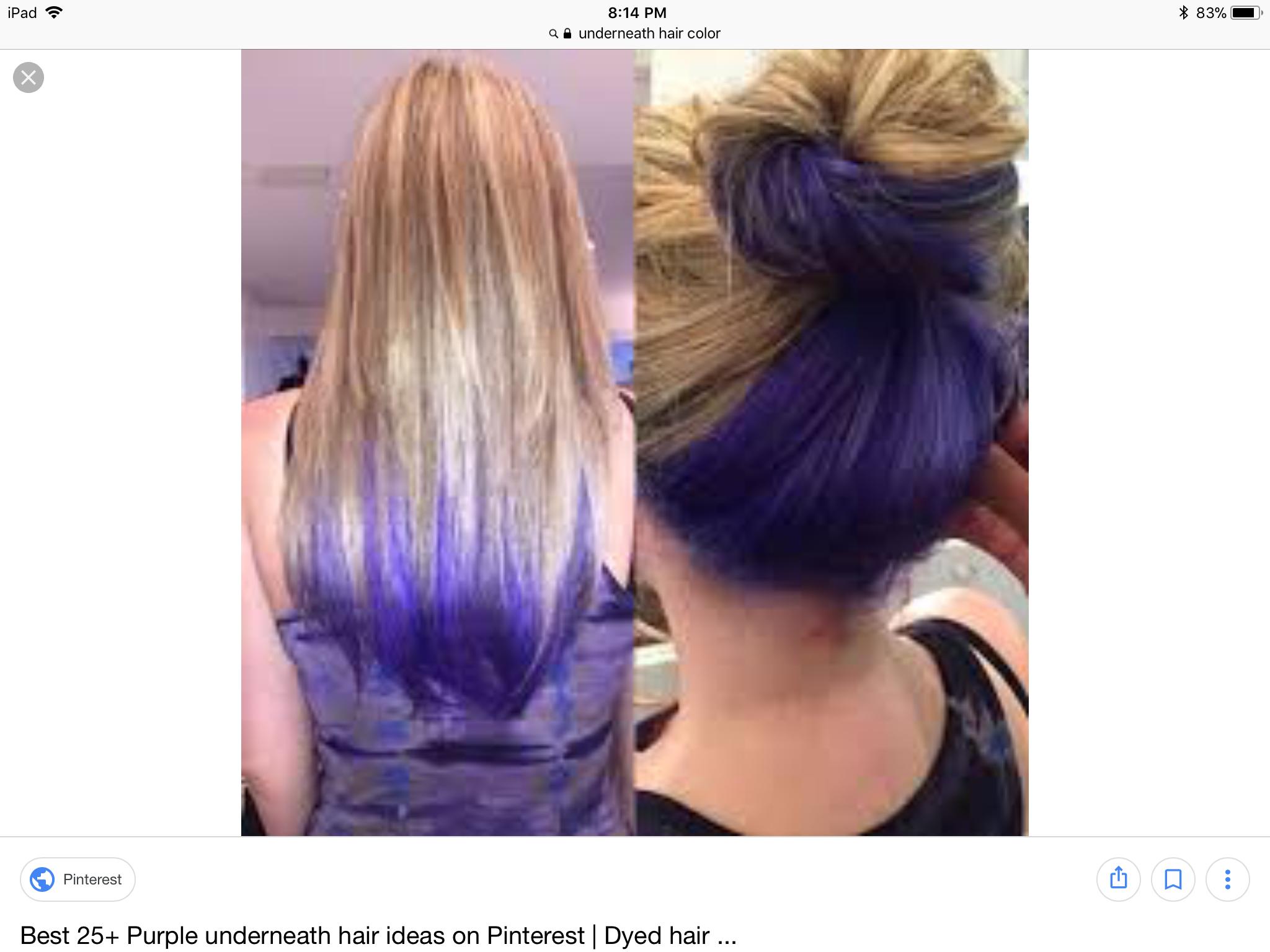Purple Panel Avedaibw Highlights Underneath Hair Underlights Hair Peekaboo Hair