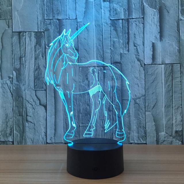 3d Illusion Unicorn Lamp Unicorn Lamp Night Light Led Night Light