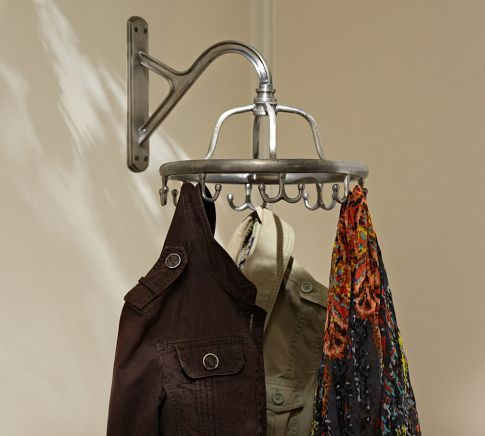 If You Don T Want To Take Up Space On Your Floor With A Regular Floor Clothes Rack Check This Cool Alternative Out Garment Racks Clothing Rack Coat Stands