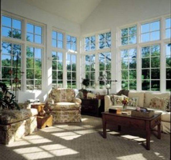 Sunroom Decor With Glass Nice