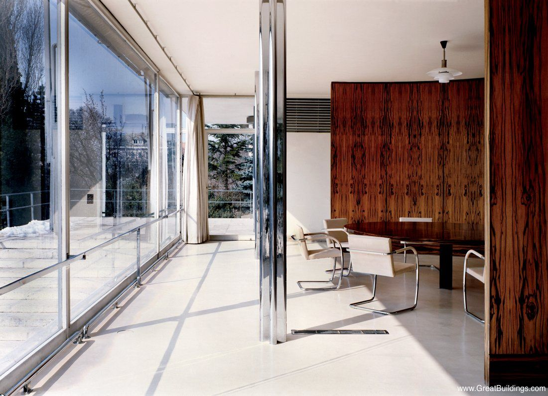 Farnsworth house by mies van der rohe exterior 8 jpg - Great Buildings Image Tugendhat House Mies Van Der Rohe Farnsworth