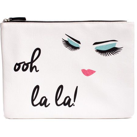 Tuck this crisp white storage pouch into a stylish tote as a thoughtful gift for your favorite hostess. Product: Pouch