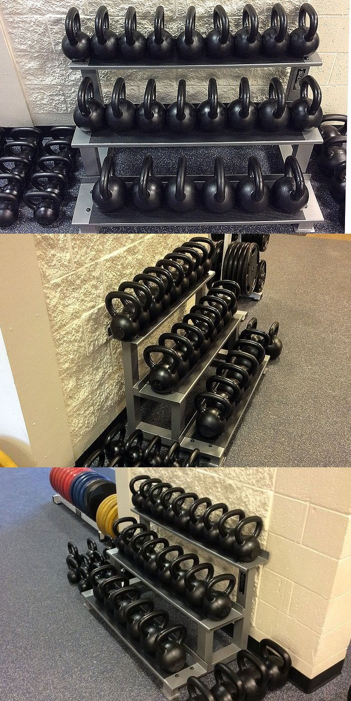 Weight storage 179819: 3 tier steel commercial grade kettlebell rack