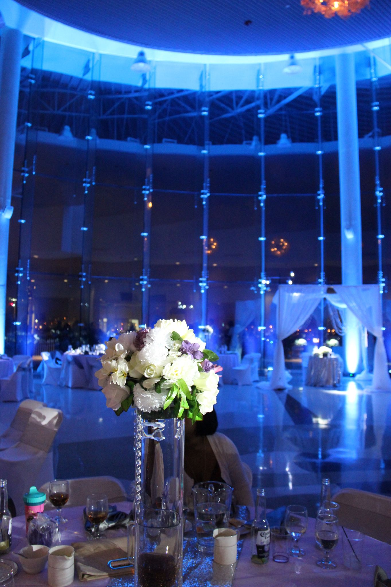 Wedding up lighting and pin spots done by illuminations innovations