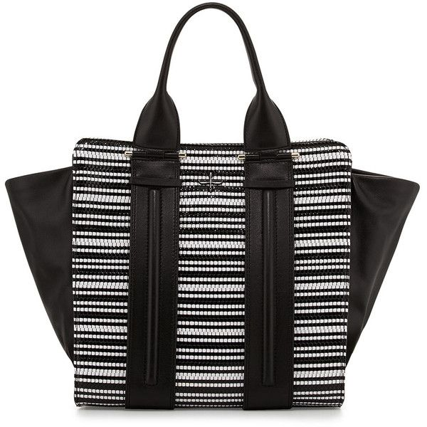c74fe3f8f2 Pour la Victoire Two-Tone Woven Tote Bag ( 230) ❤ liked on Polyvore  featuring bags