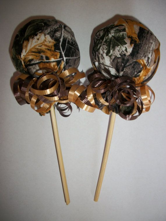 Hunting Camo Camouflage Scratch Mitten Lollipops Baby Shower Favor