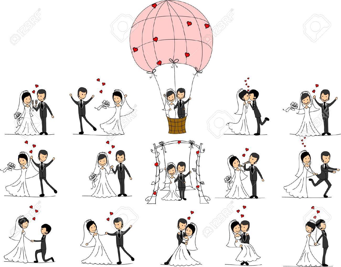 Cartoon Wedding Vectors Photos and PSD files