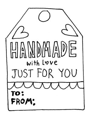 Download Free Holiday Gift Tags And Dont Forget To Color Our Handmade Holidays Page For A Chance Win Cotton Steel Fabric