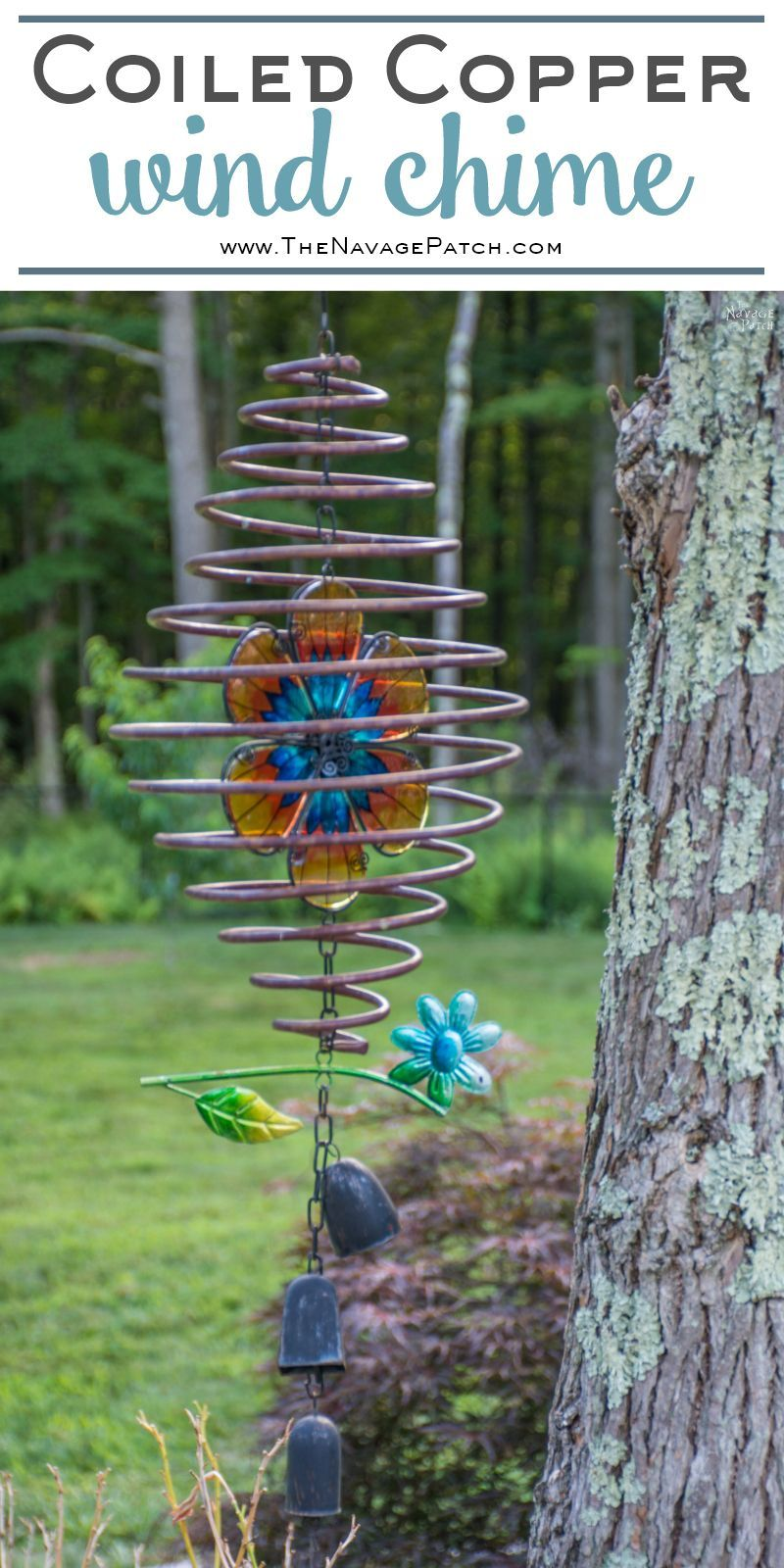 Coiled Copper Wind Chimes With Images Wind Chimes Diy Wind