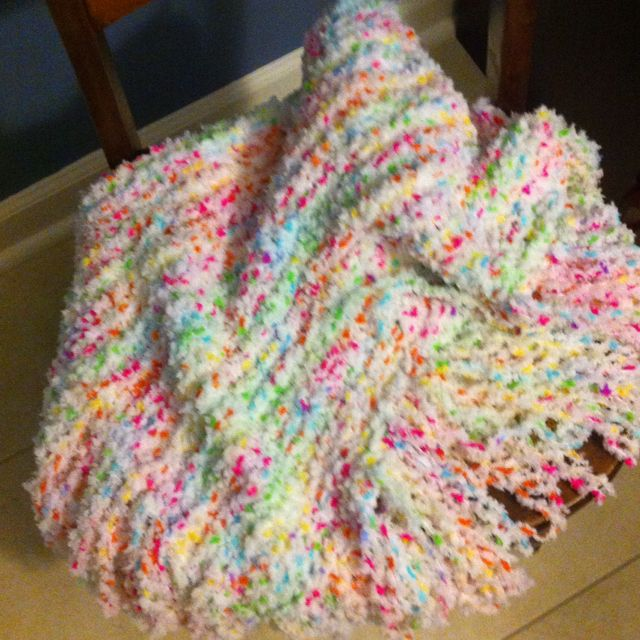 How to make a baby blanket with a round loom