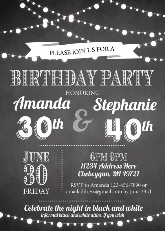 Joint Birthday Parties Adult Party 36th Mom Ideas
