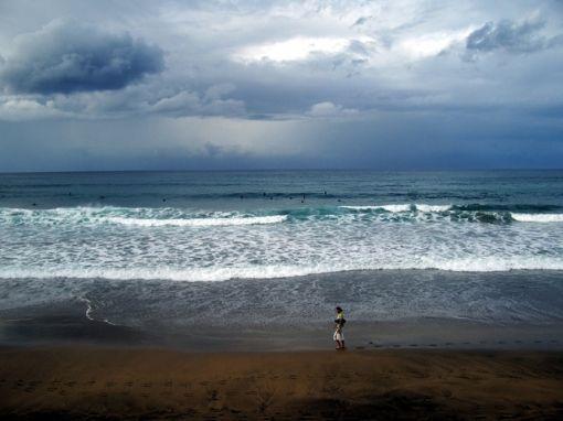 contrasts at Las Canteras Beach, Las Palmas de Gran Canaria, Spain