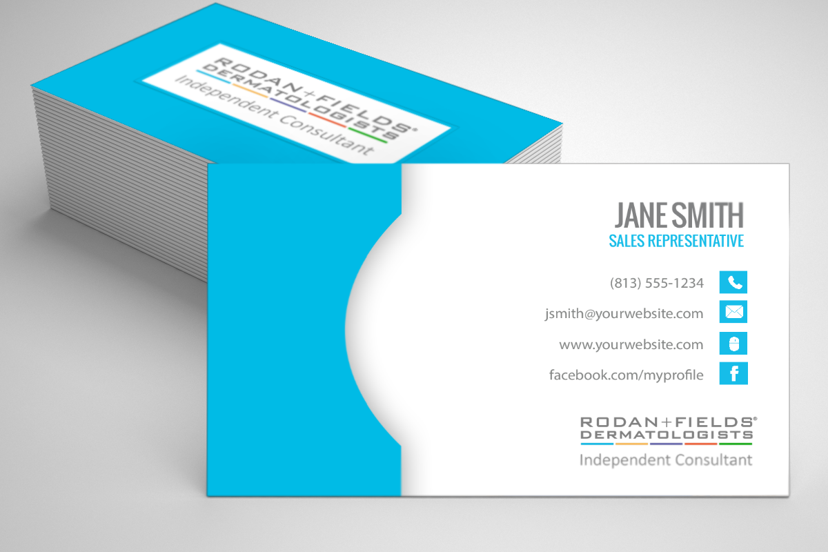 Modern Business Cards RF14 Rodan Rodan and Fields Enter To Win Fields Independent Consultant Fast Personalized