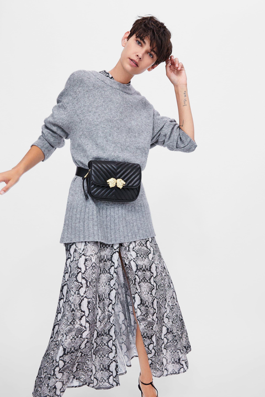 Image 1 Of Crossbody Belt Bag With Lionhead Detail From Zara Zara Black Friday Belt Bag Zara