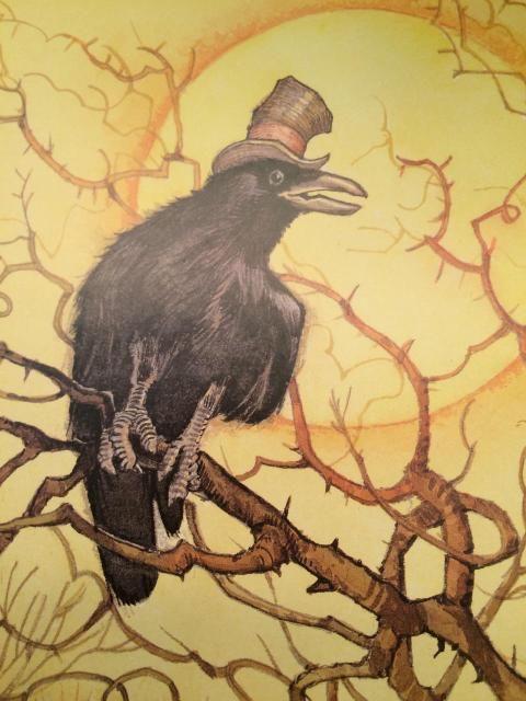 Love The Hat Crow Art Raven Art Black Bird