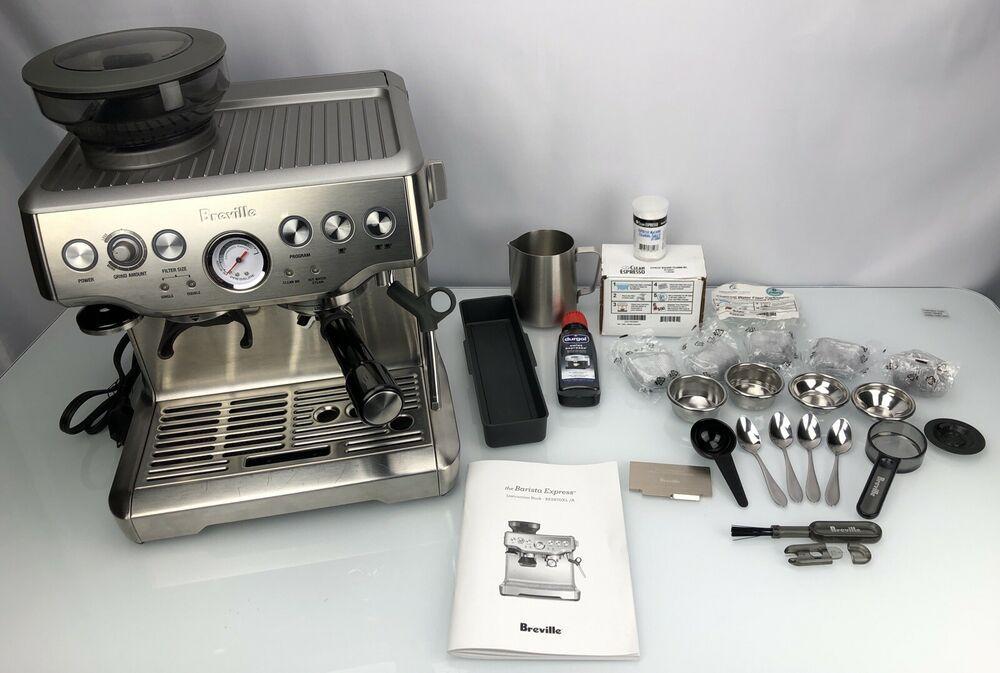 Breville Bes870xl Barista Express Espresso Machine Stainless Finish Accessories Breville Barista Baristag Espresso Machine Breville Barista Express Espresso