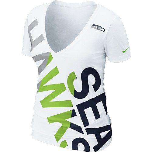 the latest d1218 40e4a New Nike Seattle Seahawks Women's Off-Kilter Tri-blend T ...