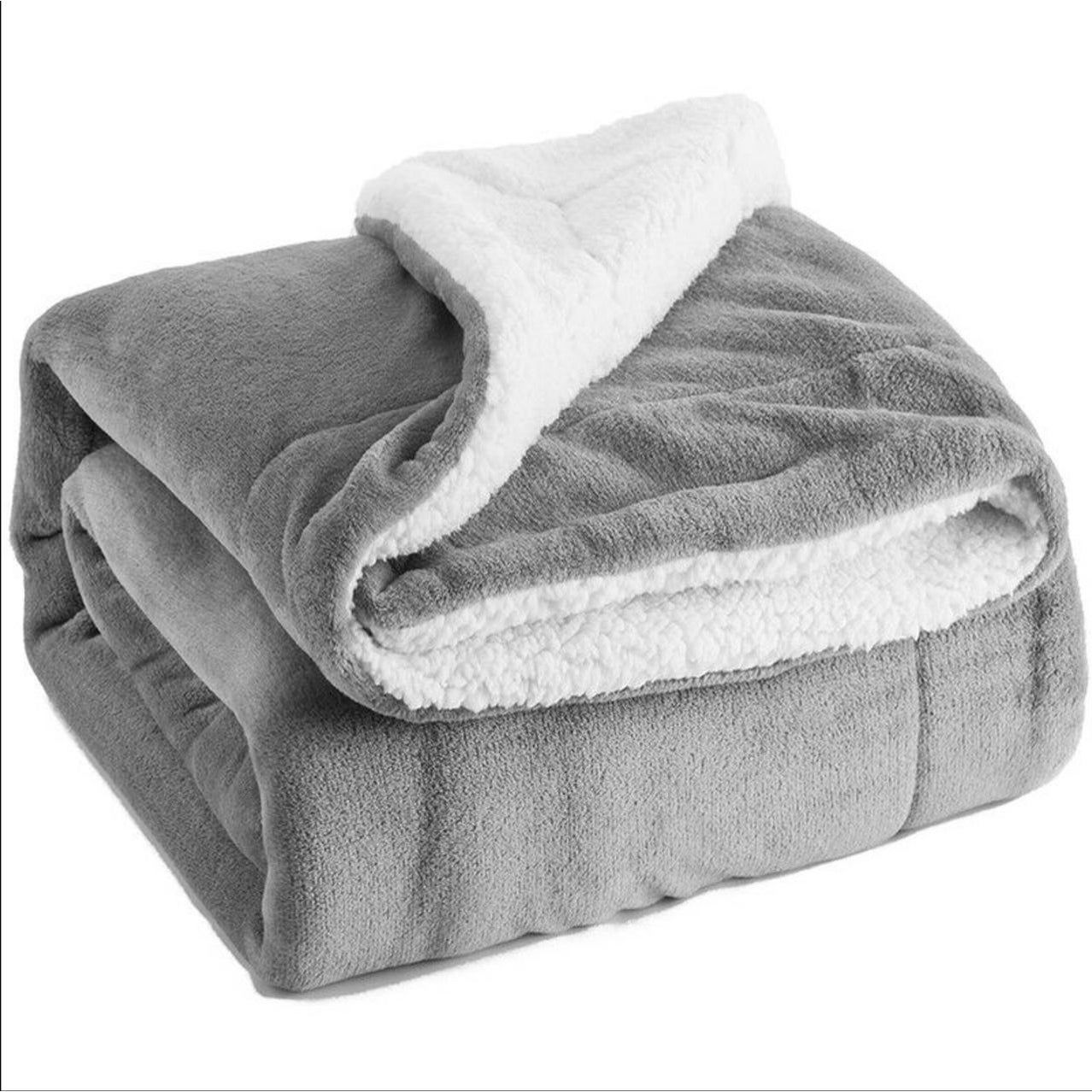 Super Warm Soft Cozy Plush Stitched Bed Sofa Couch Blanket Throw