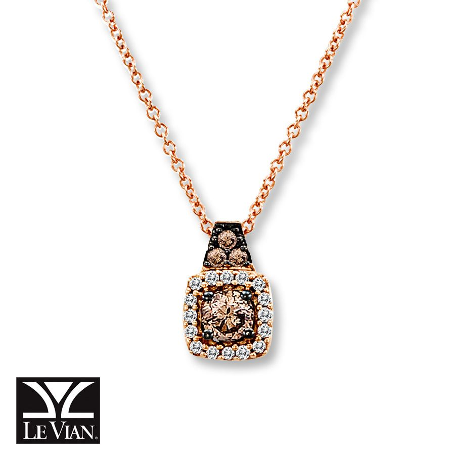 Le Vian LeVian Necklace 1/2 cttw Champagne Diamonds 14K Strawberry Gold JEJ3xnLN