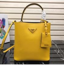 16114a4924 Prada North South Double Bag Yellow in 2019