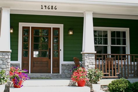 Kev Loves The Idea Of Partial Stone Columns For Our Front Porch This Gives Me Some Vision For