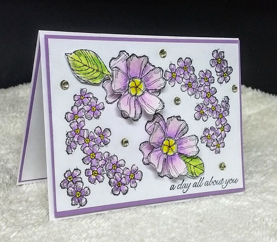 fs592 sc701 flowers galore  paper crafts pretty cards