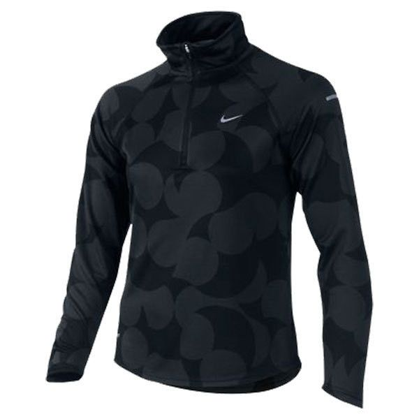 NIKE Girls` Element Jacquard Half Zip Top ($50) ❤ liked on Polyvore featuring jackets