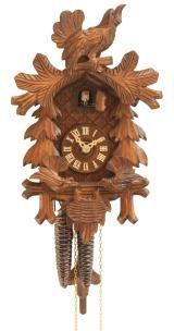 Relógio de Cuco<br>Pássaros se alimentando, Ninho