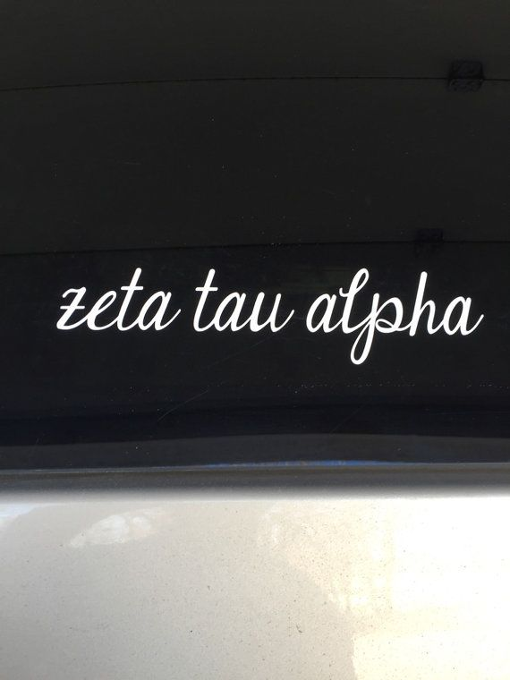 Zeta tau alpha script sorority sticker window laptop car decal vinyl ipad iphone ss116