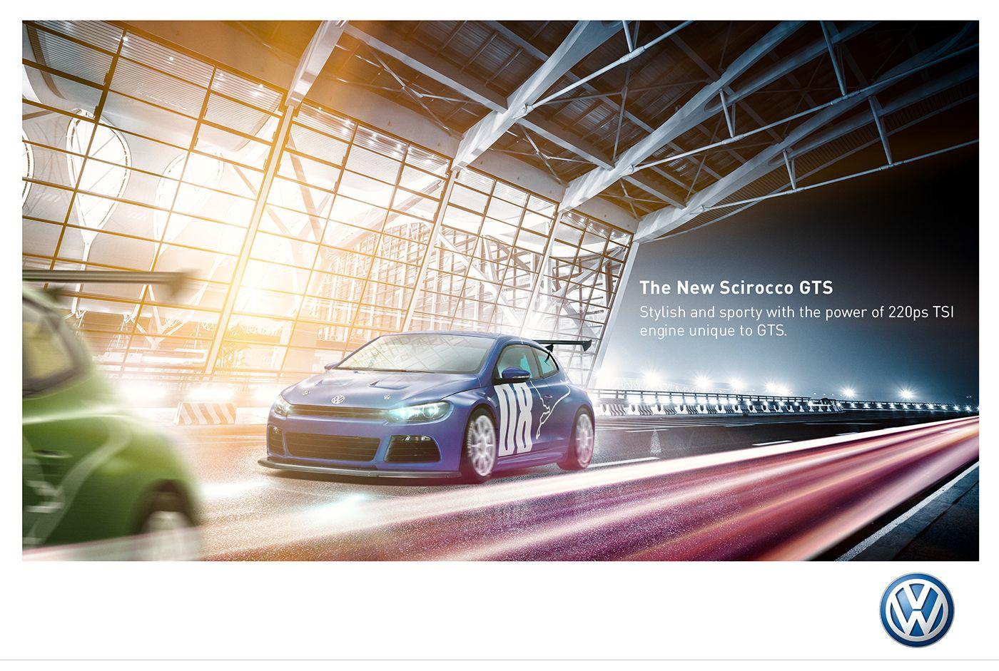 Poster design key - Volkswagen Scirocco Poster Design On Behance