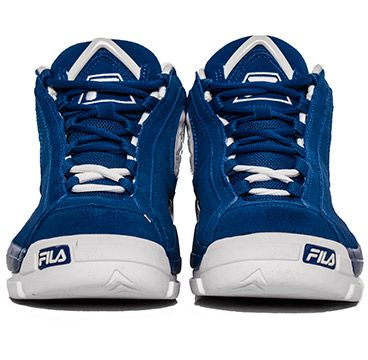 """FILA   Fila 96 Duke Blue_as part of the """"Tobacco Road"""" collection. All over suede opper with white hints  for the branding, heel and outsole."""