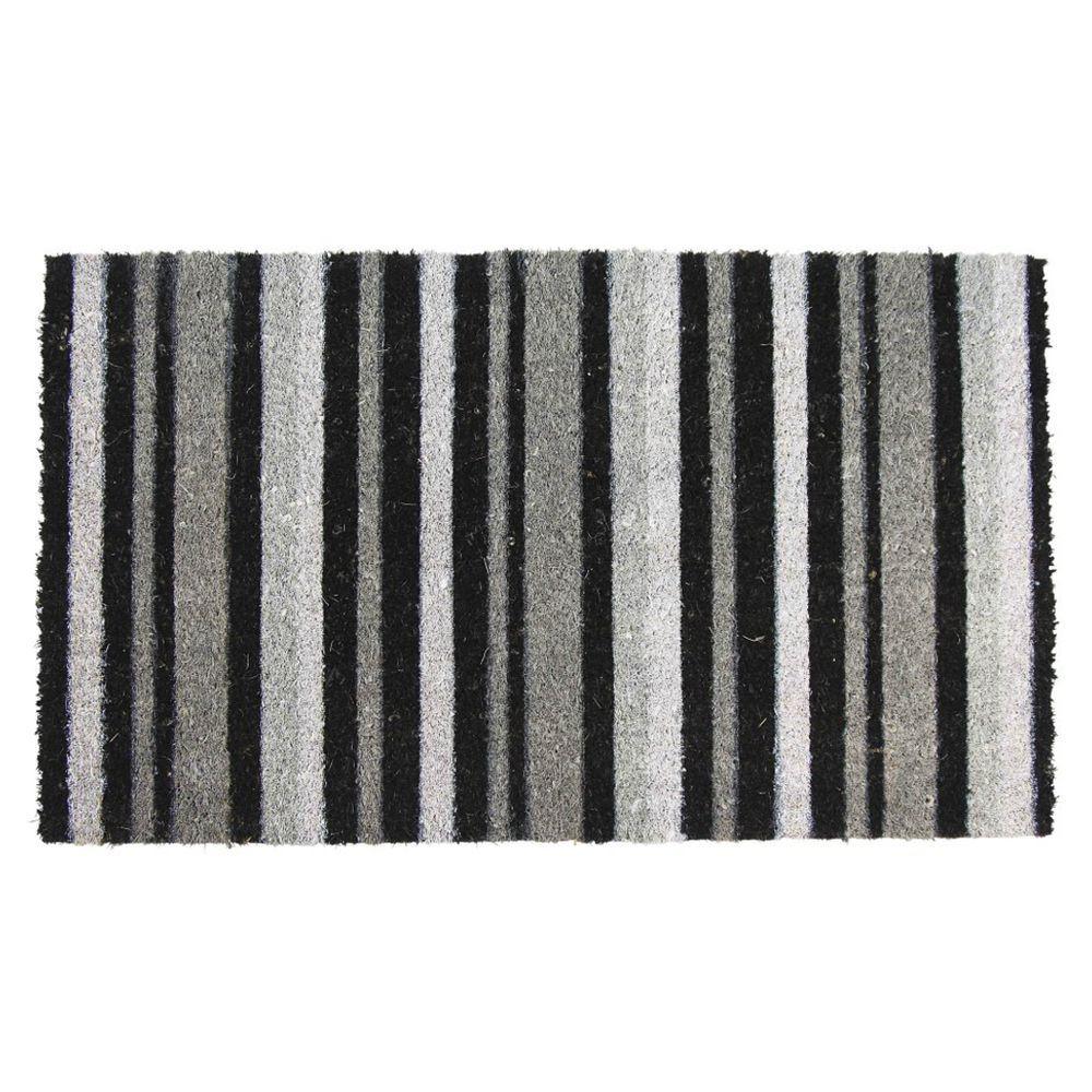 Grey Stripe Door Mat 45cm x 75cm