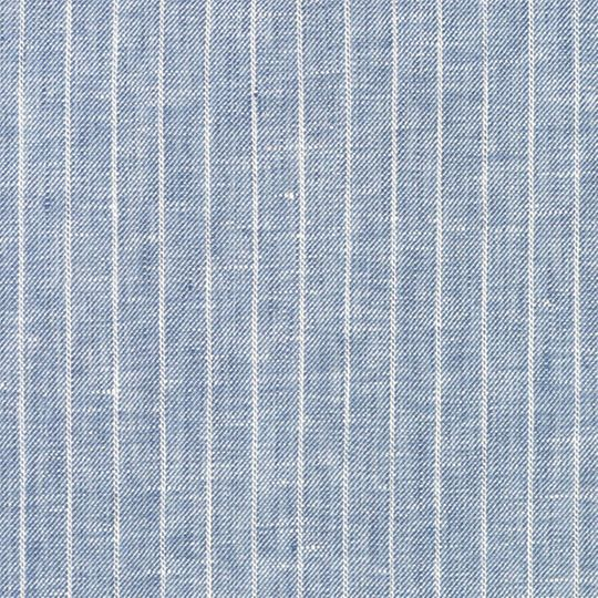 Denim Blue Pinstripe Chambray Linen Sample Products In