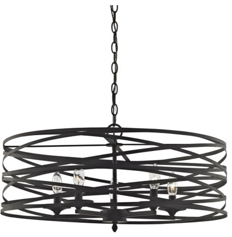 Chandelier 5Light With Oil Rubbed Bronze, Candelabra, 26