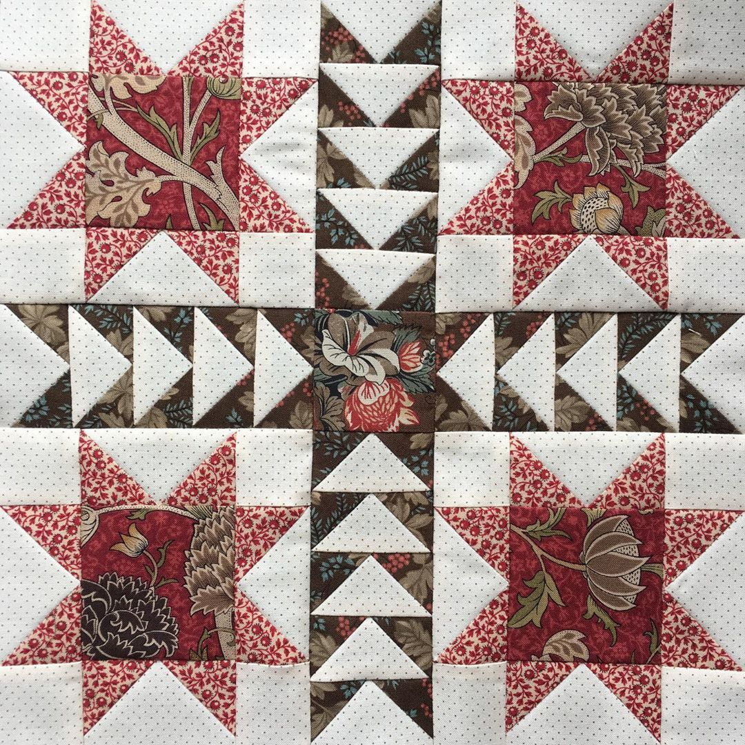Heike Schneider V Instagram And That S Block 15 All Machine Pieced There Is A Similar Block Using Some Of The Sam Quilt Block Patterns Sampler Quilt Quilts