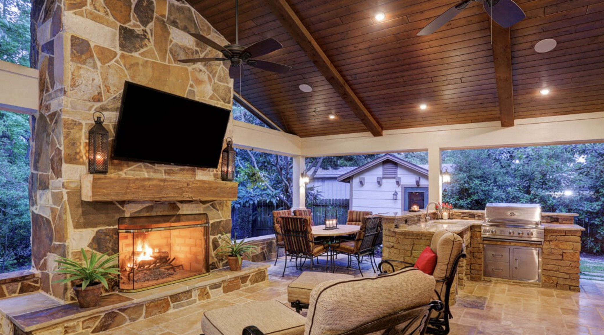 Gorgeous Fireplace In An Outdoor Living Room By Texas Custom Patios Outdoor  Living Rooms, Outdoor