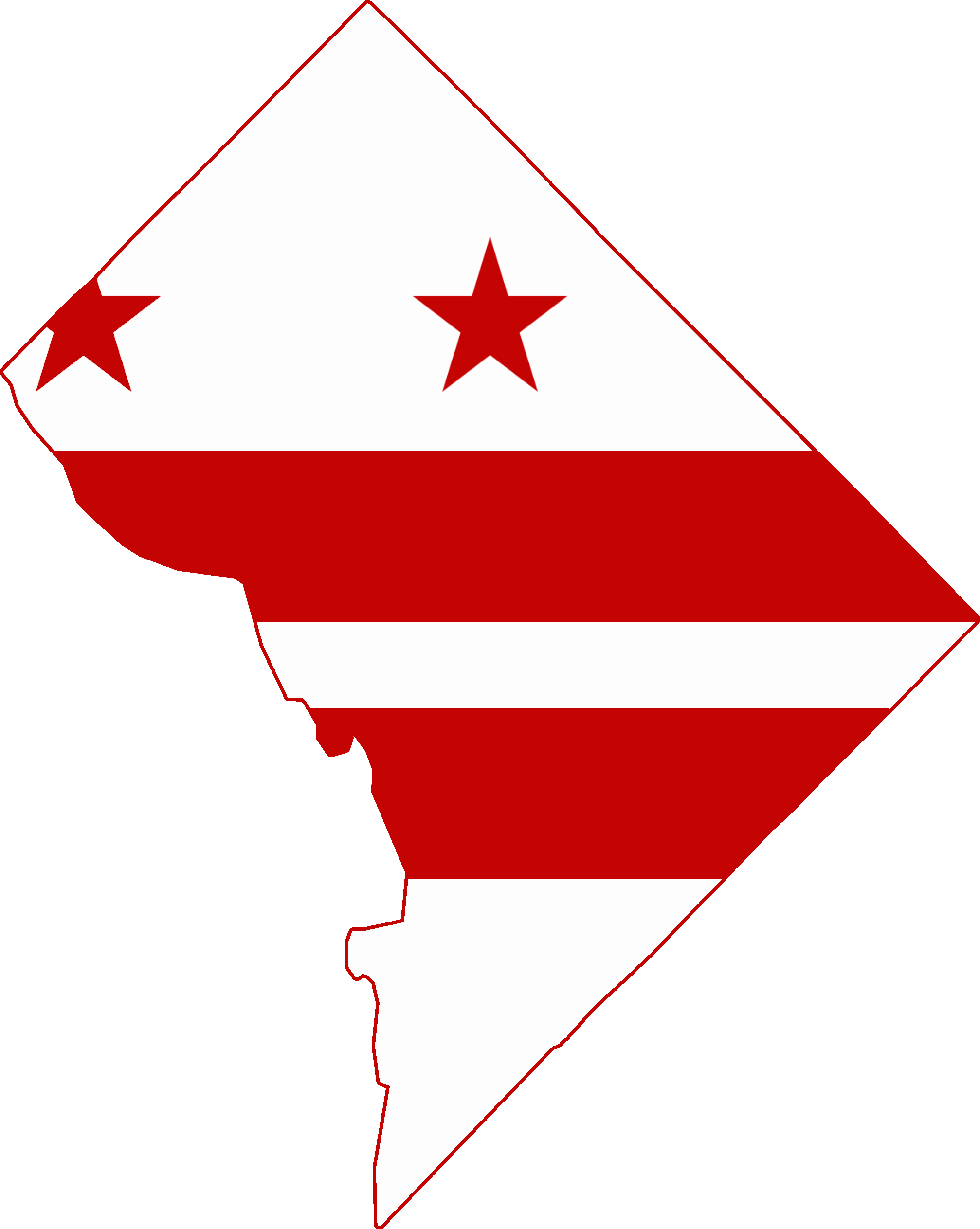 Flag map of Washington DC   Flag Maps Of The United States ...