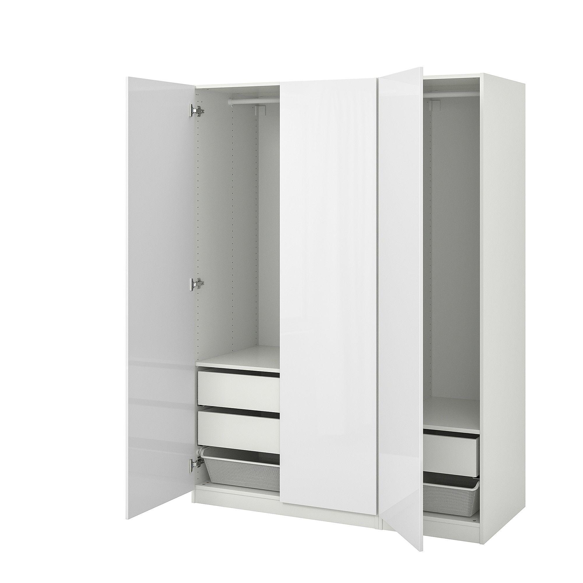 Pax Kleiderschrank Weiss Fardal Hochglanz Weiss In 2019 Ikea Pax
