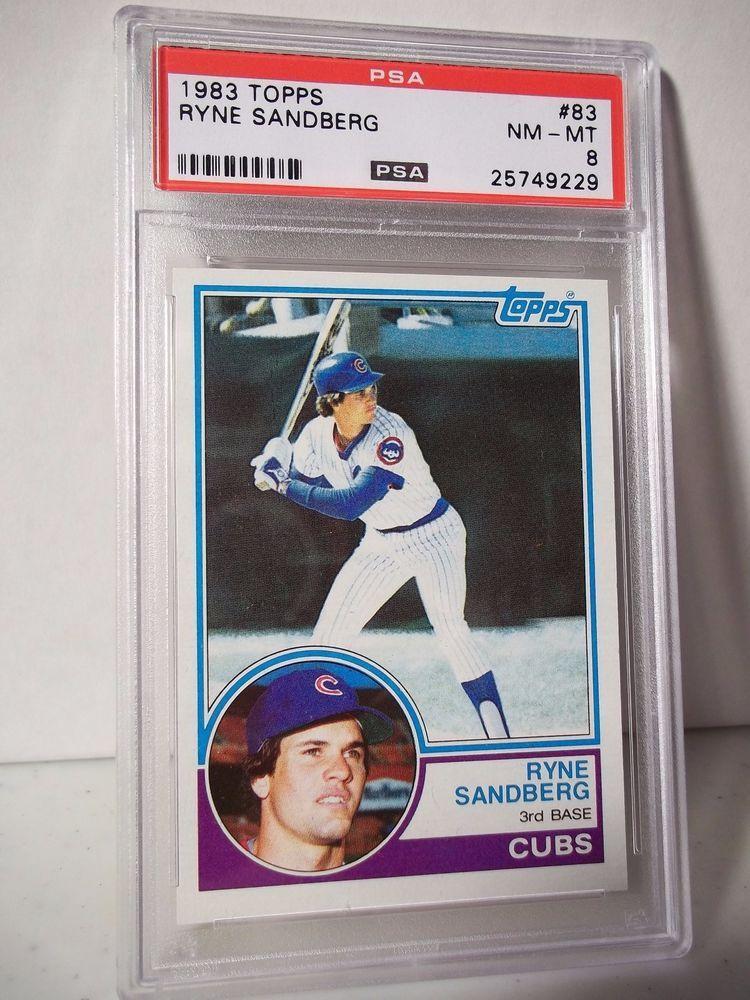 1983 Topps Ryne Sandberg RC PSA Graded NMMT 8 Baseball