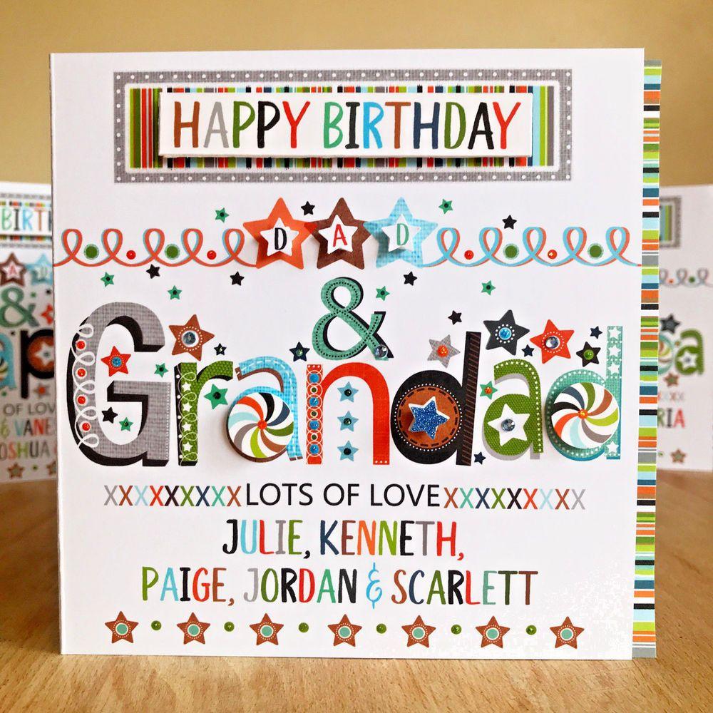 Birthday card for DAD Dad & Grandad/Grandpa/Pops