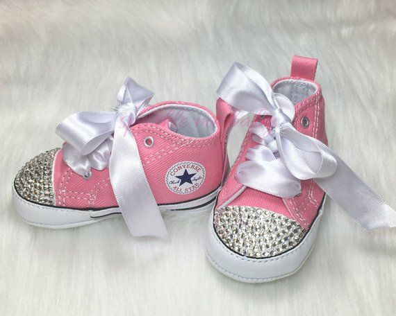 eb7d8774ddda Infant Converse - Rhinestone Converse - Converse Crib Shoes - Swarovski®  Converse - Toddler Bling Sh