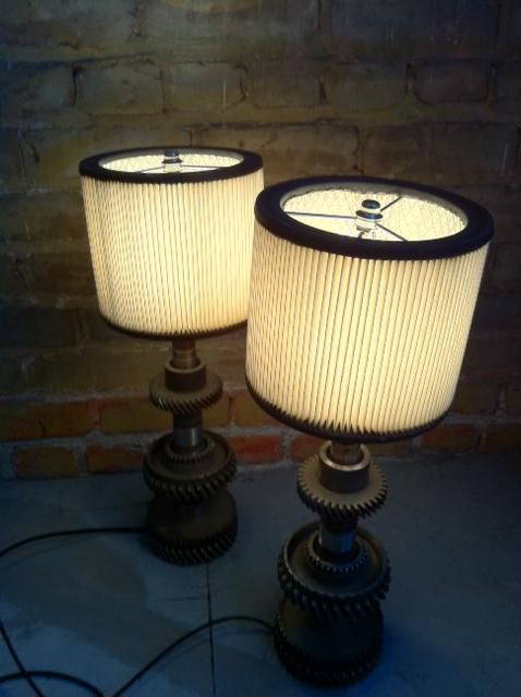 Gear Table Lamps With Air Filter Shades Inspiration