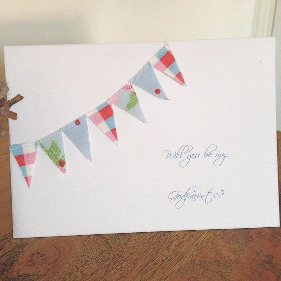 Will You Be My Godparent Cath Kidston Fabric by PinkRainbows2014